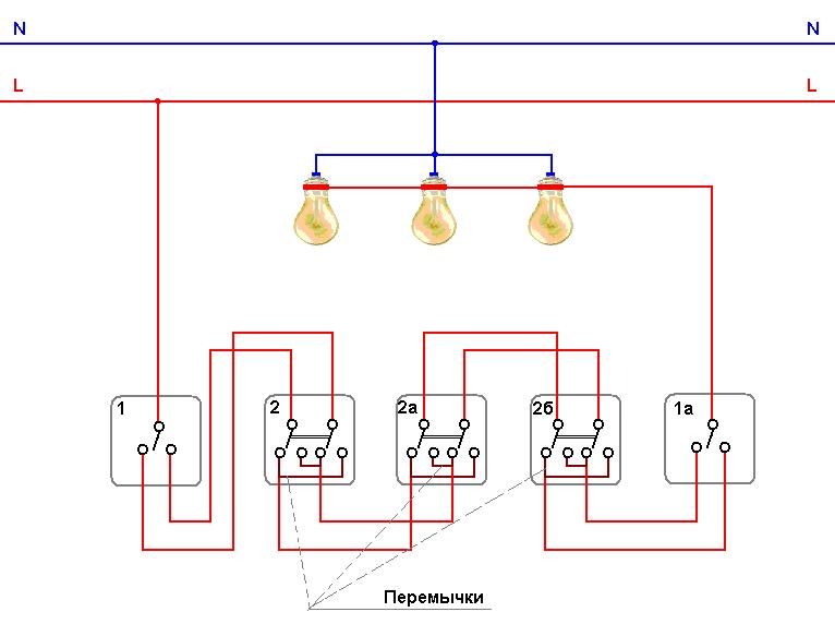 Схема управления освещением из